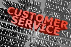 Customer service word cloud Stock Illustration
