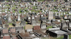 Large Sydney cemetery (2) Stock Footage