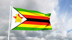 Flag of Zimbabwe Stock Footage