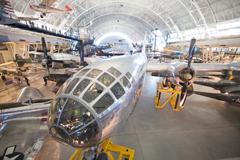 Chantilly, virginia - october 10: boeing b-29 superfortress enola gay. Stock Photos