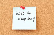 Stock Photo of will you marry me?