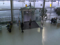 Europe Airport Terminal of Travelers Going on Vacation Trips Around the World Stock Footage