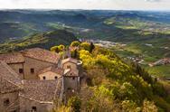View from titano mountain, san marino at neighborhood Stock Photos