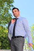 summer businessman - stock photo