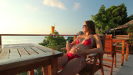 Stock Video Footage of Pregnant woman relaxing