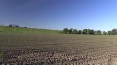 Farmer, Corn field, rows Stock Footage