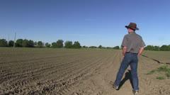Farmer, Corn field,a Stock Footage