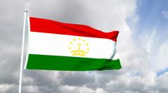 Flag of Tajikistan Stock Footage