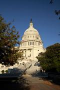 the us capitol - stock photo