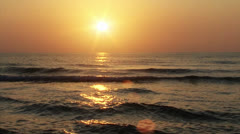 Beautiful Sunset at Beach 03 - stock footage