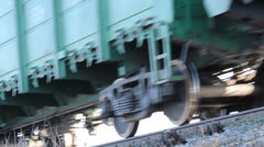 Transportation of coal by rail. railroad Stock Footage