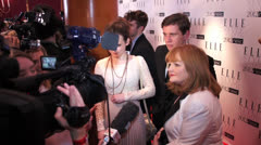 DOWNTON CAST INCLUDING LESLEY NICHOL SOPHIE McSHERA & ALLEN LEACH Stock Footage