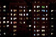 Block of flats at night Stock Photos