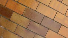 Flyover tiles crane shot Stock Footage