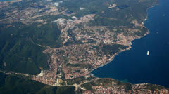 flying above bosporus - stock footage