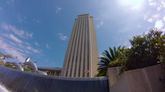 Florida Capitol Building LOW ANGLE FISHEYE Stock Footage