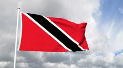 Flag of Trinidad and Tobago Stock Footage