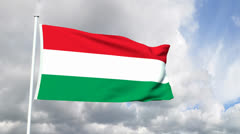 Flag of Hungary Stock Footage