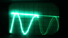 Oscilloscope graphics Stock Footage