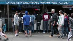 Fisherman Wharf San Francisco California people HD 5478 Stock Footage