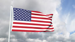 Flag of the United Atates of America Stock Footage