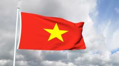 Flag of Vietnam Stock Footage