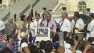 Stock Video Footage of U.S. Representative Luis Gutierrez - Immigration Reform Rally at U.S. Congress