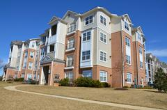 Condominium Garden Style Complex in Maryland, USA - stock photo