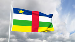 Flag of the Central African Republic Stock Footage