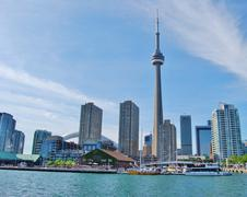 CN Tower in Toronto Waterfront, Canada - stock photo