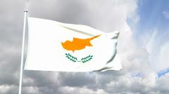Flag of Cyprus Stock Footage