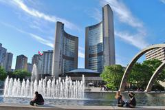 Nathan Phillips Square in Toronto, Canada - stock photo