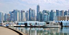 High Rise Buildings in Downtown Vancouver, Canada Stock Photos
