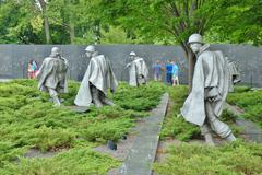 Korean War Memorial in Washington DC , USA Stock Photos