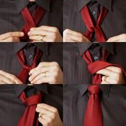 tying tie sequence - stock photo