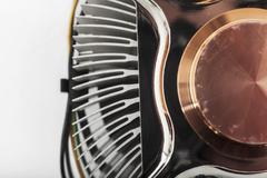 computer cpu cooler close up - stock photo