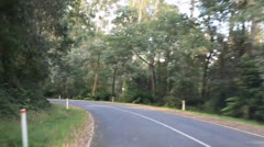 Fast drive in the Australian bush Stock Footage