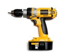 cordless drill - stock photo