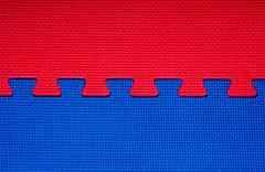 interlocking puzzle - stock photo