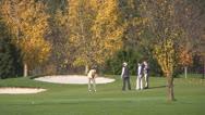 Stock Video Footage of Autumn Golf