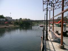 Mandakini River at Ram Ghat Stock Photos
