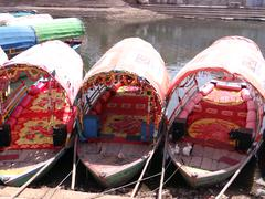 Boats are Ready at Ram Ghat Stock Photos