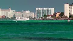 Resort Skyline in Cancun Stock Footage