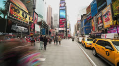 New York Times Square wide angle time-lapse Stock Footage