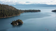 Island Lake Tahoe California Nature HD 5313 Stock Footage