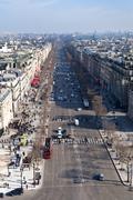 Avenues des champs elysees in paris Stock Photos
