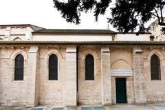 church saint-julien-le-pauvre in paris - stock photo