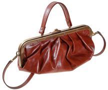Stock Photo of retro style leather bag