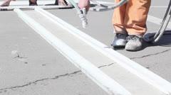 Road Marking - stock footage