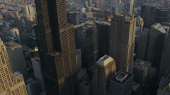 Aerial view Willis Tower Chicago, USA - stock footage
